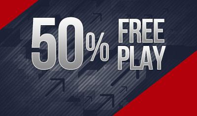 50% Free Play Bonus!