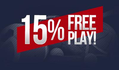 15% Free Play