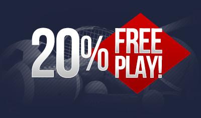 20% Free Play