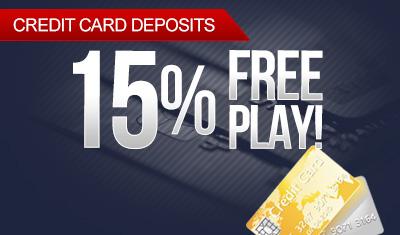 Credit Card Deposit 15% Free Play