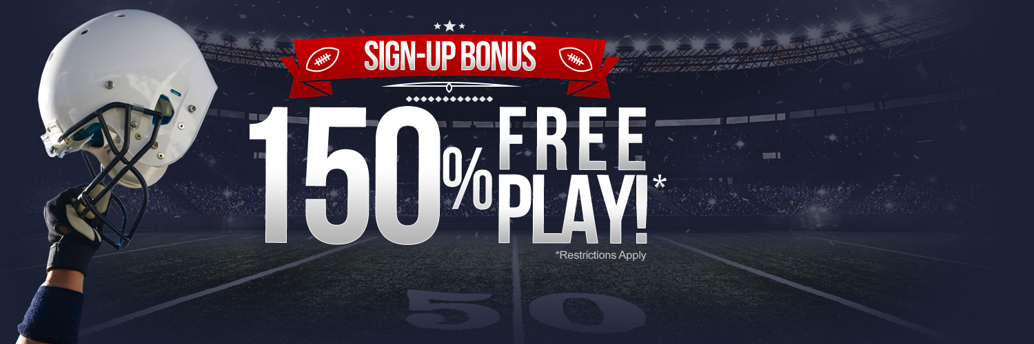 150% Free Play - Sign-Up Bonus
