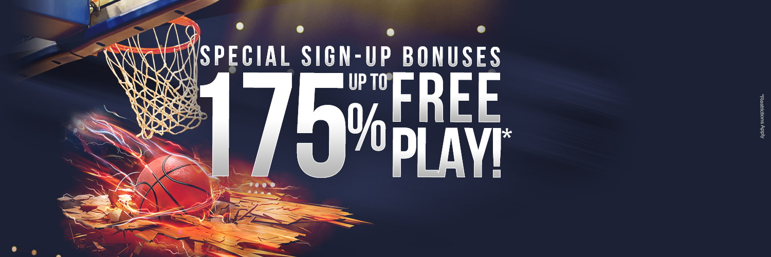 Sign-up Bonuses Up to 175% Free Play