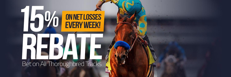 Racebook 15% Rebate