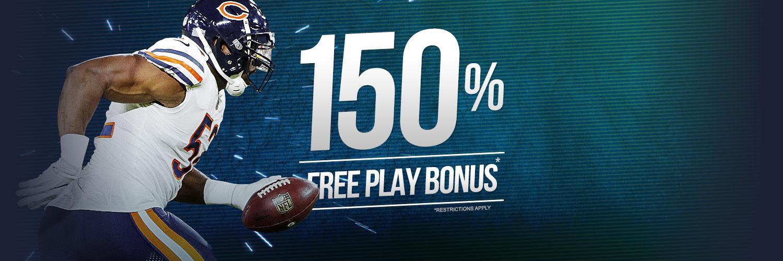 NFL 150% Free Play