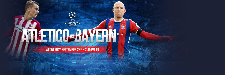 Bet on Champions League - Atletico vs Bayern