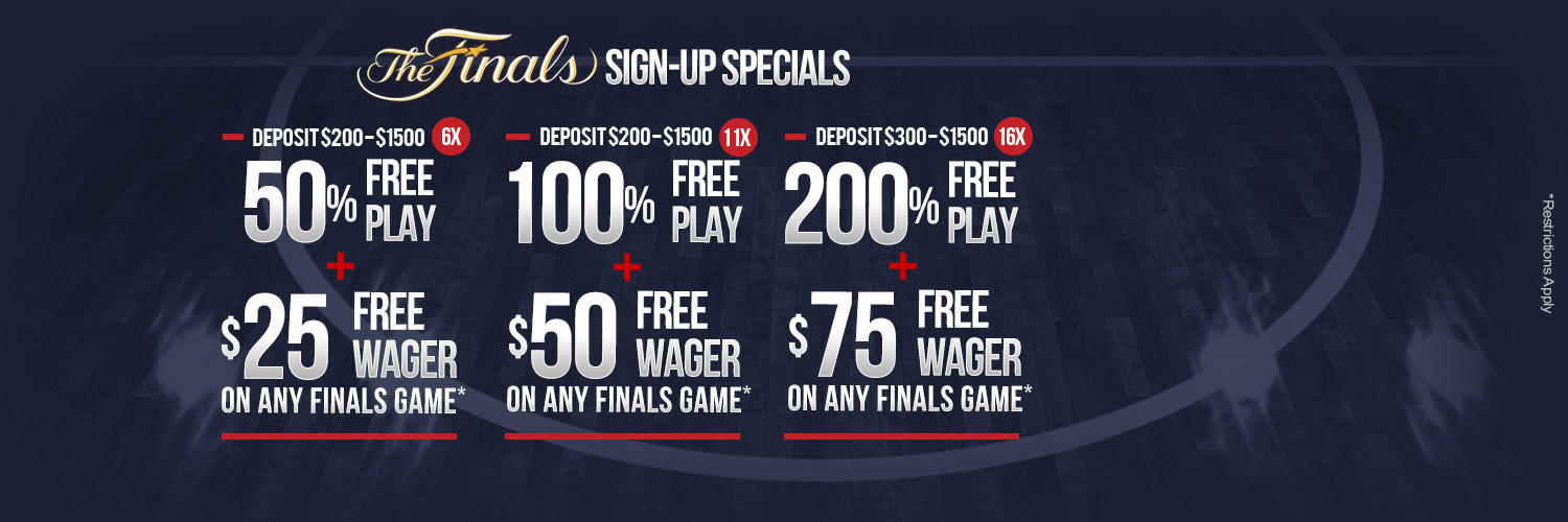 200% Free Play + 75 Free Finals Games Wager