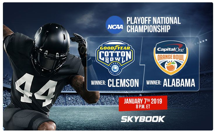 Alabama vs Clemson Betting Odds, CFP Final 2019