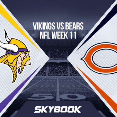 NFL Week 11 Sunday Night Football Vikings vs Bears