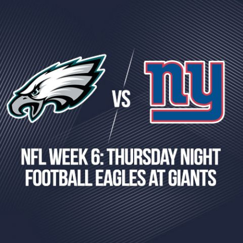 NFL Week 6: Thursday Night Football Eagles at Giants