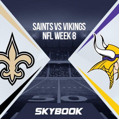 NFL Week 8 Sunday Night Football: Saints vs Vikings