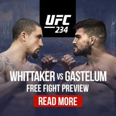 Whittaker vs. Gastelum Fight Preview, UFC 234 Betting Odds