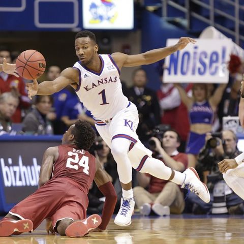 NCAA Basketball: Kansas Jayhawks vs Oklahoma Sooners